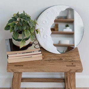 Boho Decorative Moon Crescent Mirror Celestial NWT